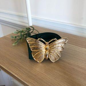 Vintage brass butterfly elastic belt